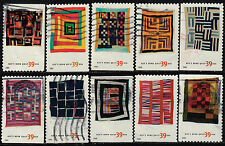 Scott #4089-98 Used Set of 10, Quilts of Gee's Bend