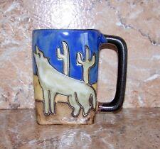 Wolf Mug Mara Stoneware Howling Wolves Pattern Square 12 Oz Mug Southwestern