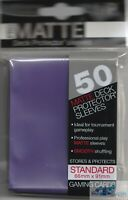 PRO-MATTE PURPLE ULTRA PRO DECK PROTECTORS CARD SLEEVES MTG POKEMON 50 SLEEVES