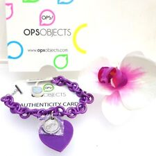 BRACCIALE RESINA OPS! OBJECTS LOVE CUORE SILICONE VIOLA AMETISTA OPSBR-101
