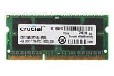 4GB Crucial 4GB PC3-10600 DDR3-1333MHz 204pin SODIMM Laptop Memory RAM #987155