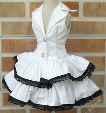 """1/3 BJD SD Sleeveless Collared Dress (White) - 22"""" BJD Doll Clothes 