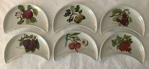 6 x Portmeirion Pomona Crescent Side Plates