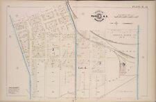 1880 G.M. HOPKINS, OSWEGO, NY, ROME, WATERTOWN, OGDENSBURGH R.R., COPY ATLAS MAP