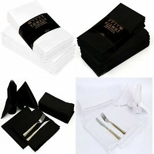 Napkins Table Linen Dinner Cloth Poly Cotton Hotel Wedding 12 Pack 18'' x 18''