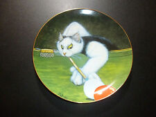 American Artists CAT WITH A CUE Collector Plate by Zoe Stokes LtdEd #592 Snooker