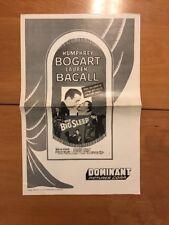 The Big Sleep Humphrey Bogart Lauren Bacall Pressbook 1956