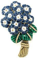 Rara Avis by Iris Apfel Enamel Flower Bouquet & Crystals Designer Large Brooch!