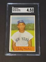 1954 Bowman #145 .983/.982 Billy Martin SGC 4.5 New Label Graded PSA BVS