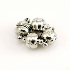 3 Sets Platinum Plated Oval Strong Magnetic Clasps Jewelry Findings 11x7mm