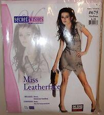 New Womens Texas Chainsaw Massacre Miss Leatherface Costume Medium 6 -10