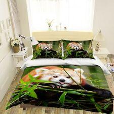 3D Cute Red Panda R603 Animal Bed Pillowcases Quilt Duvet Cover Queen Kay