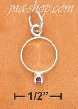 Sterling Silver BIRTHSTONE RING WITH FEBRUARY CZ CHARM PENDANT
