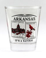 ARKANSAS STATE SCENERY RED NEW SHOT GLASS SHOTGLASS