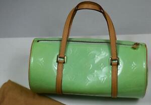 Louis Vuitton Monogram Vernis Peppermint BEDFORD Handbag Purse Bag MINT USED 2's