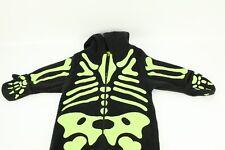Glow in the Dark Baby Fleece Large 6 9 Mos. Black Green Bones Costume Boy Girls