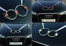 SANFTES RINGE Auto Schmuck Braut Rose Deko Dekoration hochzeit autoschmuck