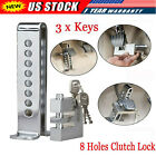 Anti-theft Car Brake Pedal Lock Security With 3 Keys Stainless Steel Clutch Lock