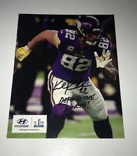 Kyle Rudolph Autographed Minnesota Vikings 8x10 Football Photo NFL Signed RARE