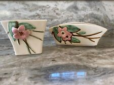 New Listing2 Vintage Mccoy Pottery Dogwood Blossom Planters square and rectangular