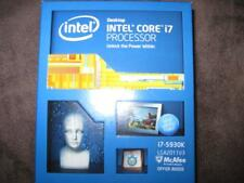 Intel i7 5930K LGA 2011-3  with 6 core 12  thread up to 3.7Ghz 15mb caches CPU