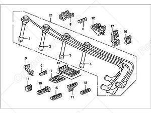 Genuine Honda Ignition Cable Set 32722P01000 fit for Honda Civic