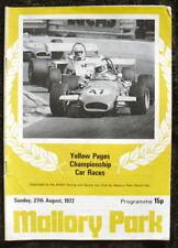Mallory Park páginas amarillas las carreras programa 27 de agosto 1972
