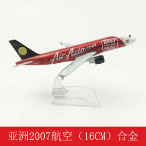 NEW 16CM  Aircraft Metal model Asia 2007A320 Solid Passenger Airplane Plane