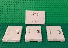 Lego X4 New White 10x10 String Net / City Mini Figures Square Fishing Parts Lot