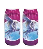Women/'s 3D Unicorn Cartoon  Print Socks Unisex Ankle Cotton Socks Free UK Post