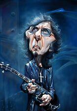 "Tony Iommi ""War Pigs"" Caricature Black Sabbath Sticker or Magnet"