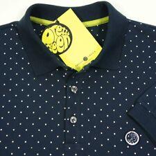 Pretty Green polka dot polo navy blue t shirt  sizes s-xxl