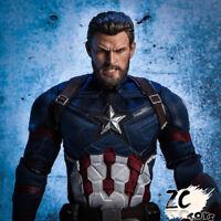 "ZCTOYS 1/6 Captain America Head Sculpt Avengers: Infinity War For 12"" Figure Toy"