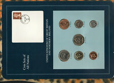 Coin Sets of All Nations Great Britain wcard 1977-1990 UNC 50,20 Pence 82 23DE92