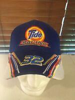 NWOT TIDE RACING 32 Ricky Craven Blue Orange White Hat Ball Cap Snap Back
