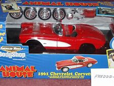 "ERTL 1961 CHEVY CORVETTE ANIMAL HOUSE ""BODY SHOP"" ASSEMBLY MODEL KIT 1/18 VHTF"