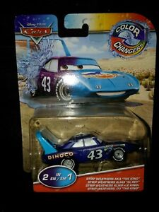 """DISNEY PIXAR CARS Color Changers AKA """"The King"""" STRIP WEATHERS #43 RARE 2 in 1"""