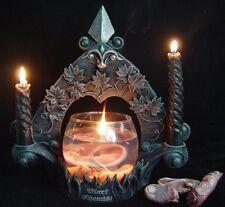 Halloween Deko Gelkerze mit Körperteilen Gothic Horror Mystik Kerzenhalter 66005