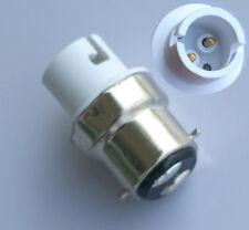 Bayonet B22 To Bayonet SBC B15/BA15D Light Bulb Adaptor Lamp Socket Converter