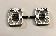 Crank Bros Mallet 1 MTB Pedals Silver/Red