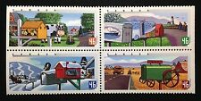 Canada #1849-1852a MNH, Rural Mailboxes Block of Stamps 2000