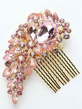 8 Colours TOP Bridal Bridesmaid Wedding Hair Comb Clip Rhinestone Diamante Prom