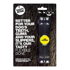 Tastybone Flexi Rubber Dog Chew Toy Chicken Small Bone | Nylon Softer Plastic