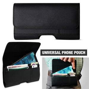 For Universal Classical Horizontal Flip Pu Leather Phone Pouch Belt Loop Case