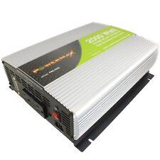 PowerMax 2000 w watt Pure Sine Wave Power Inverter 12v dc to 110/120 v volt AC