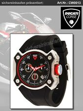 Ducati Corse Edelstahl-Kautschuk Männeruhr/Herrenuhr Chronograph CW0013