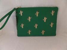 NWT Street Level In a Pretty Prickle Cactus Clutch Green Gold Emerald Must Look