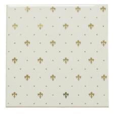 Ersatzfliese Wand Petracer's Ceramiche E515 Grand Elegance weiß gold 20 x 20 cm