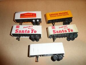 TYCO HO SCALE TRAILERS LOT OF 5