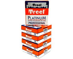 5 x 100 Treet platinum single edge razor blades. 500 pieces. Super stainless
